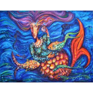 "Other - ""Mar Caribe"" Giclée / Art Print by P. Montes Sz S"